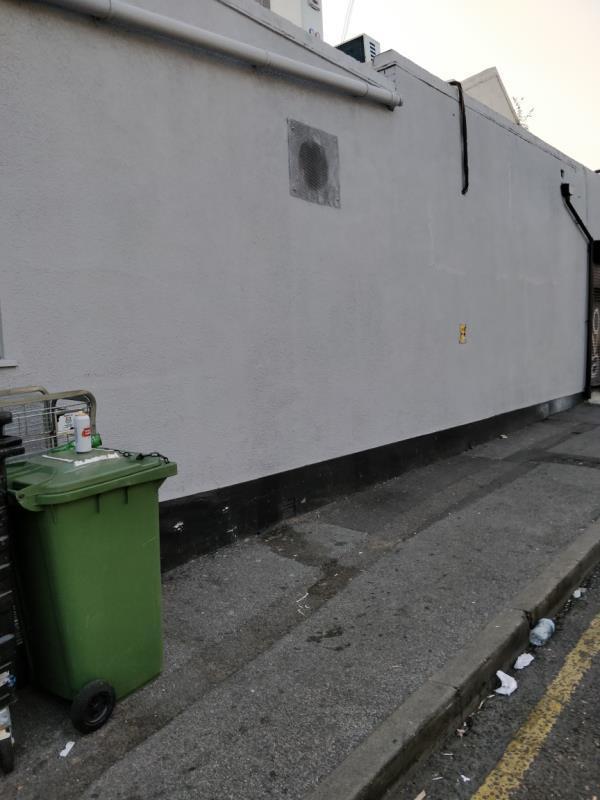 alcohol related litter at Francis Street off Leytonstone Road beside 23-25 Leytonstone Road E15-19 Leytonstone Road, London, E15 1JA