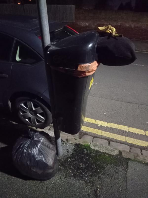 Domestic rubbish around bin. Bin also overflowing with same.-36a Russell Street, Reading, RG1 7XY