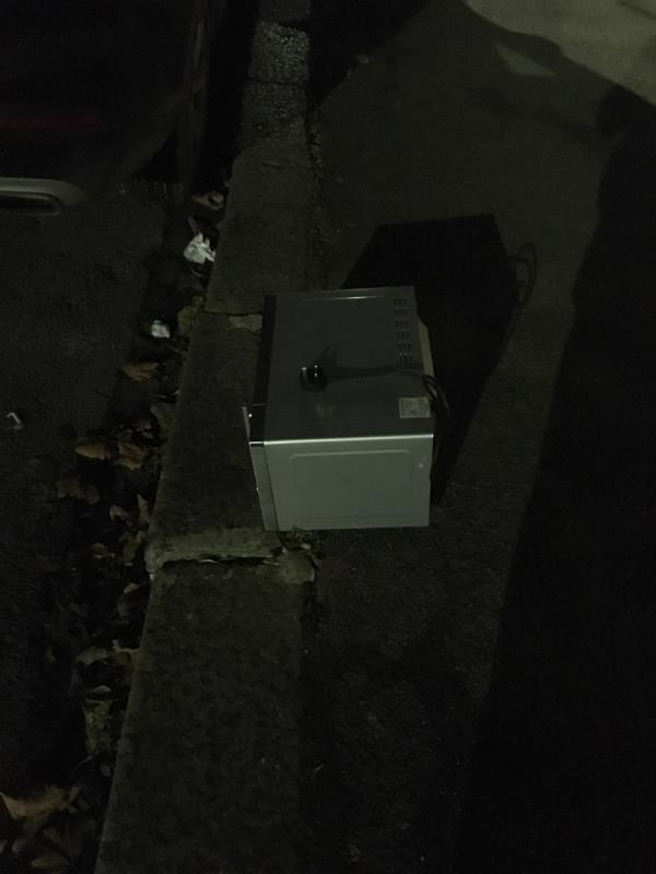 Microwave dumped opposite No 50-42 Boxley Street, London, E16 2AN