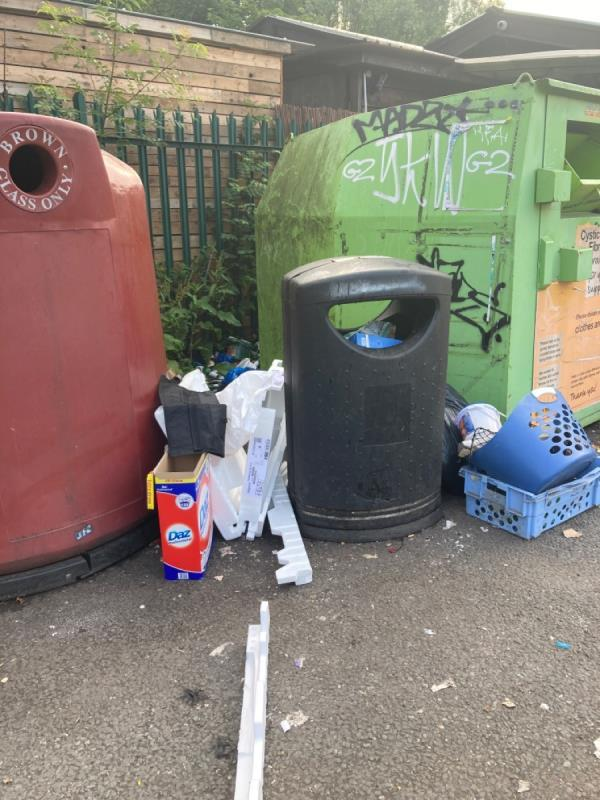 Only just cleared and now more has been dumped. Can we have a permanent solution put in place please?.-100 George Street, Reading, RG4 8DH
