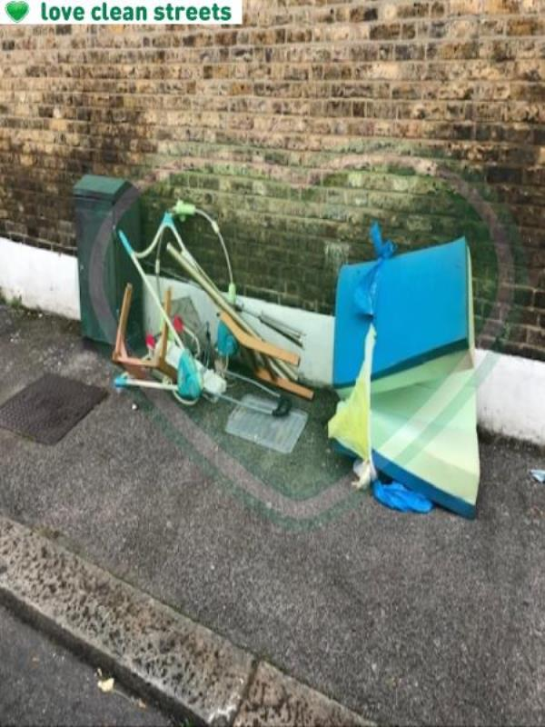 Cudham Street Please clear flytip-34 Honley Road, London, SE6 2JB
