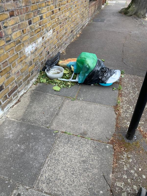 Fly tipping -10 Kingsley Road, London, E7 9PP