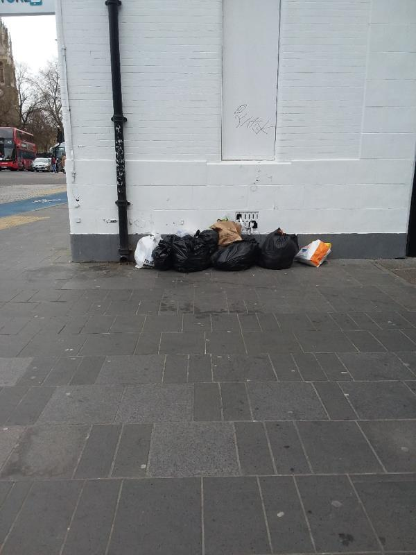 Boxes, litter and Bin bags left at this location-31 Broadway, London E15 4BQ, UK