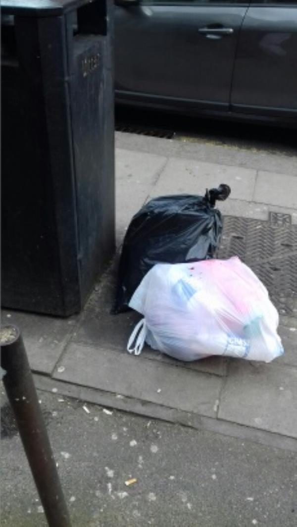 2 bags of wastes dumped outside 468A Green Street -464 Green Street, London, E13 9DB