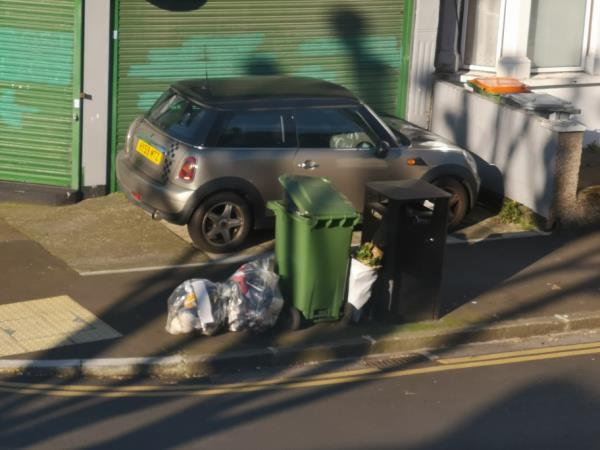 rubbish dumped , some from no 66 -55b Frinton Road, London, E6 3EZ