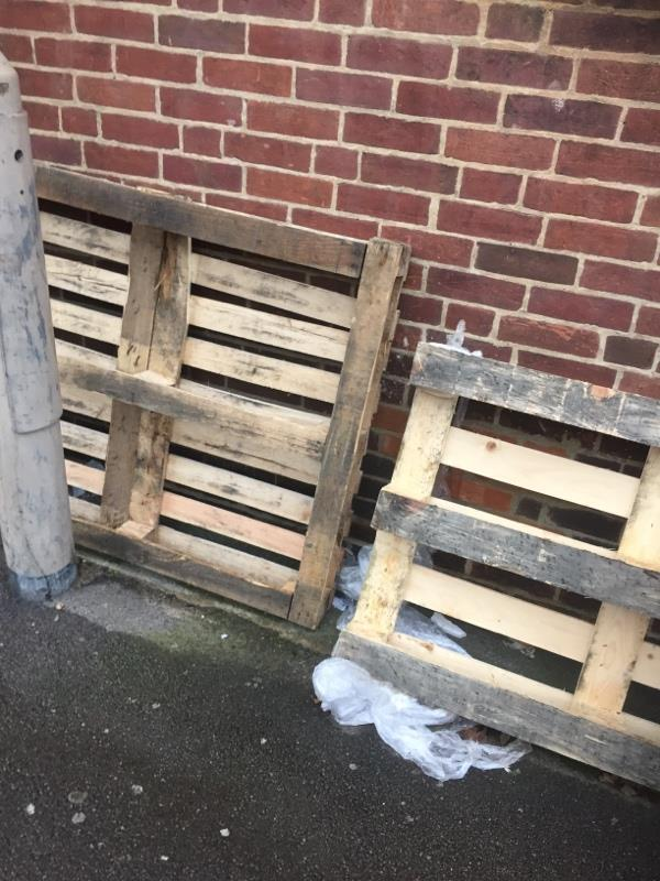 Dumped pallets -6 Russell Street, Reading, RG1 7UY