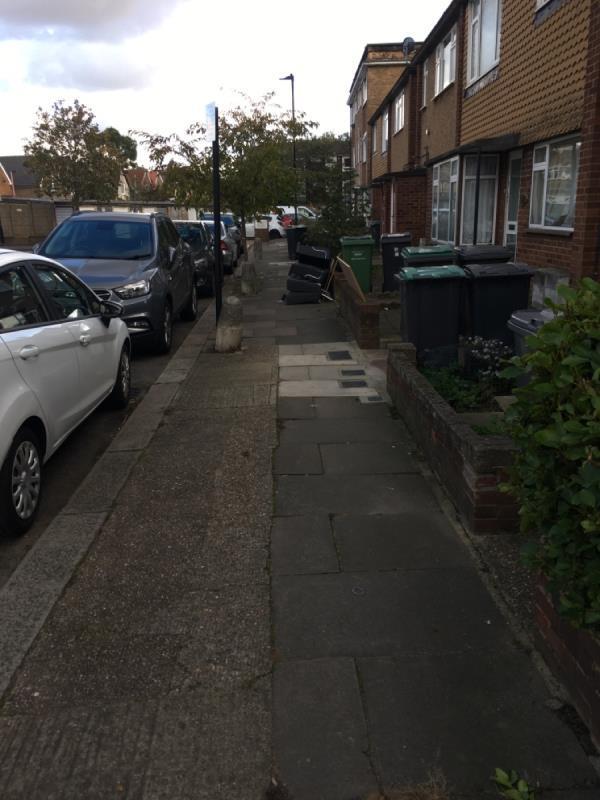 Collapsed sofa  Hampden Lane N17-70 Hampden Ln, London N17 0LN, UK