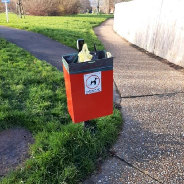 SEESL from NP Zone2 EBC 3rd Dec please empty the dog poo bin in Holly Park by the Bylands Close entrance    thank you -8 Byland Close, Eastbourne, BN22 0UE