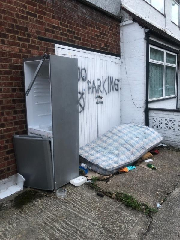 Flytipping next to number 16-33 Richmond Street, London, E13 9AA