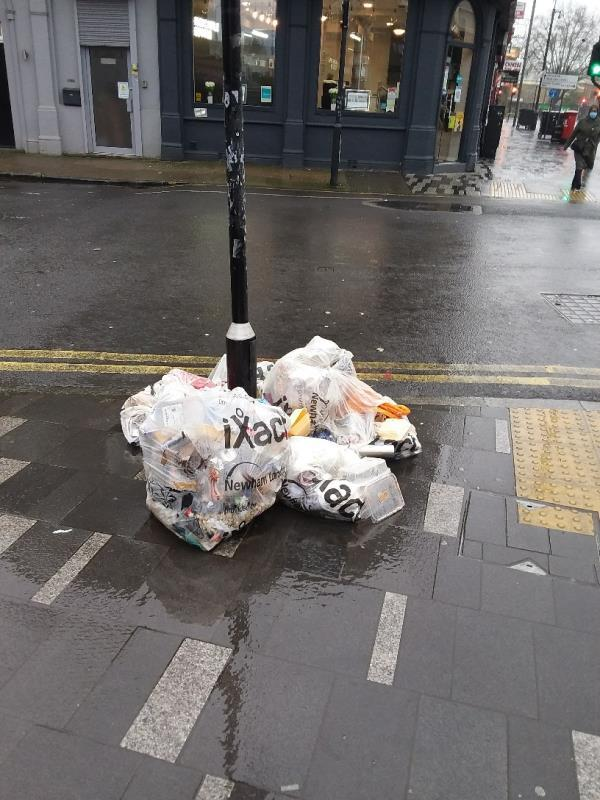 Litter and Bin Bags left at this location-198a The Grove, London, E15 1NS