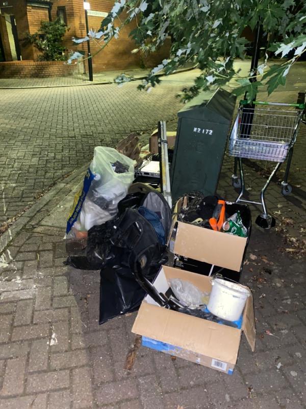 Rubbish dumped again -14 Porter Rd, London E6 5PN, UK