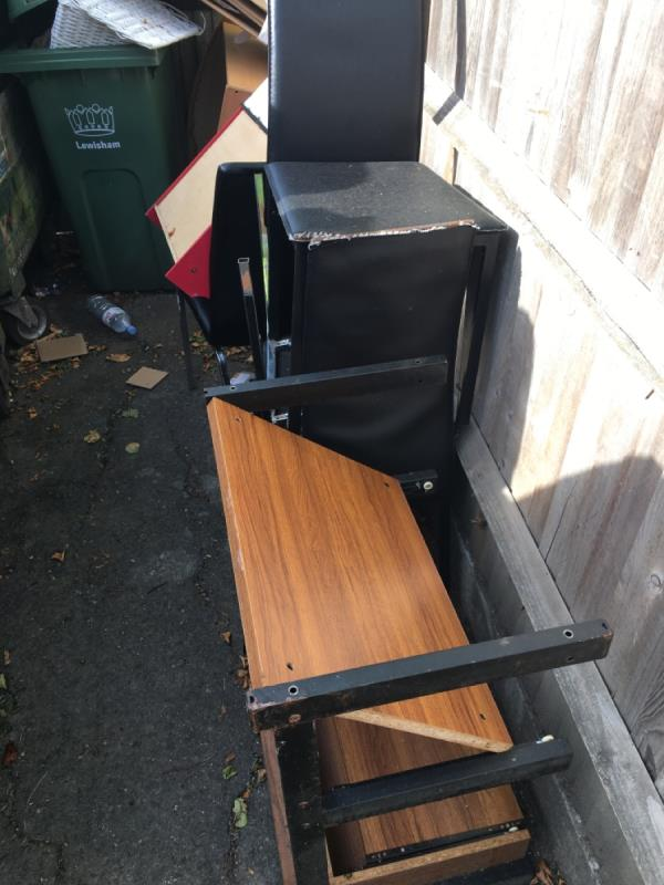 Wood, chairs, tables.-84 Woodbank Road, Bromley, BR1 5HH