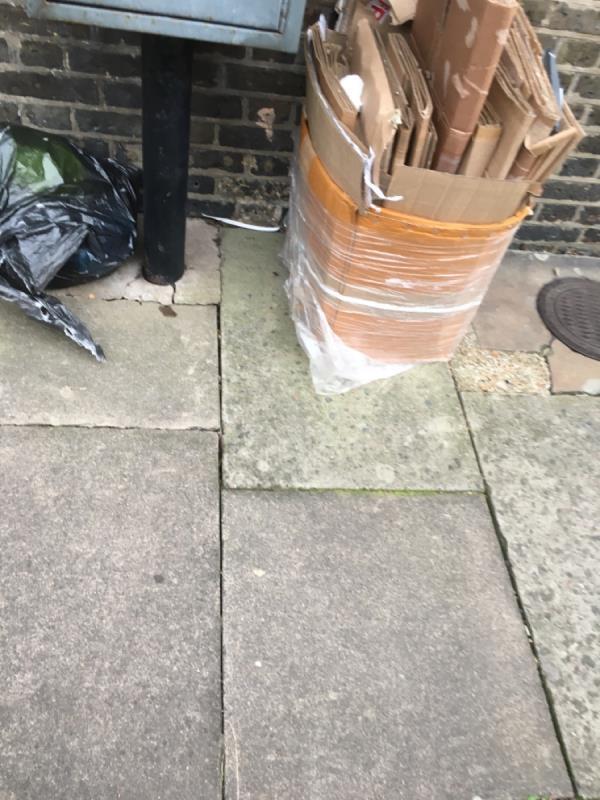 Rubbish dumped -104 Portway, London, E15 3QJ