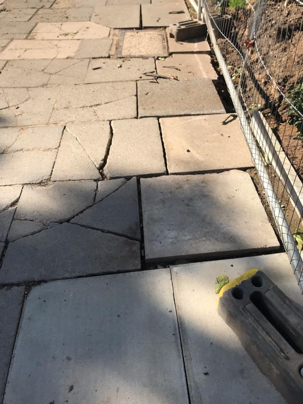 Dangerous uneven broken pavement is located opposite 27 Mount Park Road W5 - this is due to building work at the location which appears to be finished. A large strech of pavement is damaged -24-26 Mount Park Road, Ealing, W5 2RS