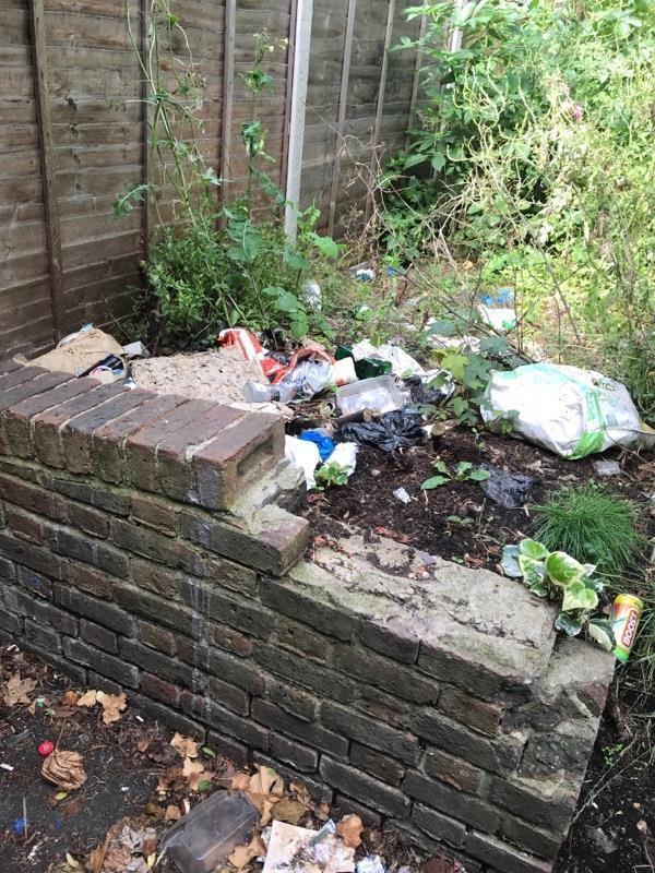 Assorted litter and broken glass-32 Wilkinson Road, London, E16 3RJ