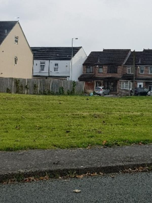 Fly tipped rubbish on the edge of the field on Haggar St.-19 Haggar Street, Wolverhampton, WV2 3ET