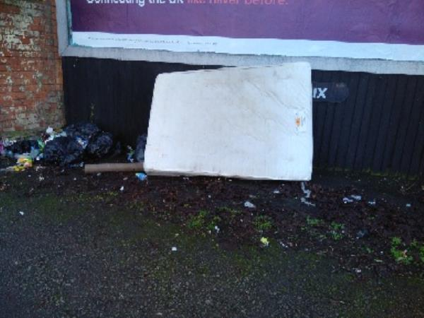 I reported the 1 mattress and bags about 2 weeks ago, and now there is a new mattresses dumped there. -48 Mornington Street, Leicester, LE5 3NF
