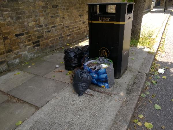 bags of earth-55 Vaughan Road, London, E15 4JY