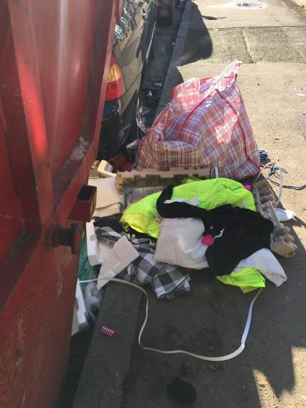Rubbish dump -33 Essex Road, London, E12 6
