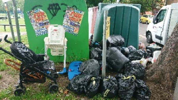 flytipping house hold garden waste-5 Norfolk Rd, Reading RG30 2EG, UK